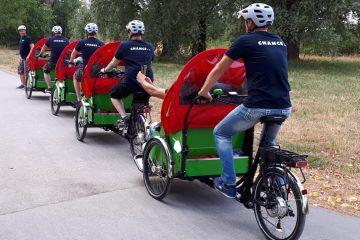 Mit den Rikscha-Fahrern des Vereins Chance e.V. unterwegs – das Angebot gilt für ältere Menschen in Hiltrup-Ost. (Foto: Presseamt Münster)