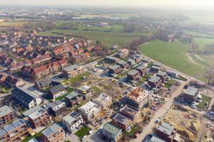 Ein bunt gemischtes Wohngebiet entsteht derzeit am Markweg im Stadtteil Rumphorst. Hier steht auch ein Grundstück für gemeinschaftliches Wohnen zur Verfügung – eine Interessenabfrage für Baugruppen startet ab sofort. (Foto: Stadt Münster / Muensterview)