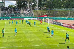 Das DFB-Sportgericht hat entschieden: das DFB-Pokalspiel gegen den VfL Wolfsburg wird wegen eines Wechselfehlers mit 2:0 zugunsten des SC Preußen Münster gewertet. (Foto: Nientiedt)