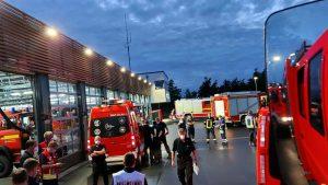 Die Feuerwehr Münster am Sammelpunkt Drensteinfurt. (Foto: Feuerwehr Münster)