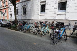 Im Kreuzviertel sind Stellplätze für Fahrräder besonders knapp. Neue Anlehnbügel ermöglichen dort bald das sichere Abstellen. (Foto: Stadt Münster)