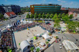 Die Location für den Urlaubsguru Beach Cup auf dem Hafenplatz. (Foto: Urlaubsguru Beach Cup)