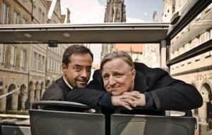 Sind Professor Boerne (Jan Josef Liefers, li.) und Hauptkommissar Frank Thiel (Axel Prahl) die nächsten Opfer des Serienmöders?(Foto: WDR / Markus Tedeskino)