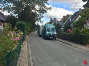 Der Fundort der Bombe am Drolshagenweg. (Foto: Thomas Hölscher)