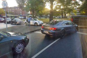 In vielen Bereichen der Stadt, wie hier am Ludgeriplatz, kam der Verkehr zum Erliegen. (Foto: Annick Sprengart)