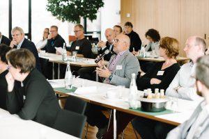 Die behandelten Themen der Tagung riefen lebhafte Diskussionen unter den Teilnehmern hervor. (Foto: FH Münster/ Maxi Krähling)