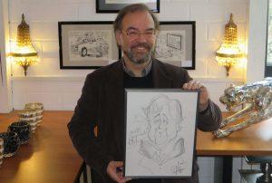 Die Karikaturen von Arndt Zinkant sind ab dem Wochenende auch im Kunsthaus Angelmodde zu sehen. (Foto: Uwe Paulsen)