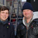 """GRÜNE-Sprecher Stephan Orth (li.) und Carsten Peters vom """"Keinen Meter""""-Bündnis. (Foto: Carsten Bender)"""