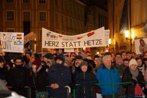 Zu den Protesten gegen die AfD werden am Freitag wieder viele Teilnehmer erwartet. (Archivbild: Carsten Bender)