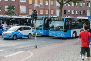 Der Münster-Marathon bedeutet für fast alle Buslinien Umleitungen. (Archivbild: Carsten Bender)