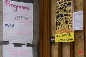 """Die Botschaft der Aktivisten ist klar: """"Dieses Haus ist besetzt"""". (Foto: cabe)"""