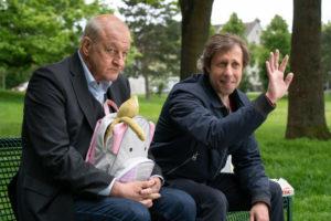 Georg Wilsberg (Leonard Lansink, li.) und Ekki (Oliver Korittke). (Foto: ZDF / Thomas Kost)