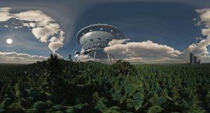 Im Planetarium wird aus Perry Rhodan gelesen. (Grafik: LWL/Perdok)