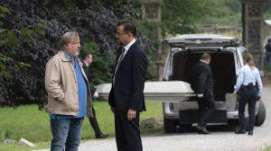 Kommissar Frank Thiel (Axel Prahl, li.) und Gerichtsmediziner Karl-Friedrich Boerne (Jan Josef Liefers) am Tatort. (Foto: WDR / Thomas Kost)