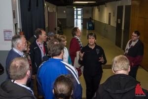 Backstage mit Dr. Maxi Schneider - viele Besucher wollten hinter die Kulissen schauen. (Foto: th)