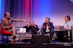 Adam Riese, Pitti Duyster, Helmut Sanftenschneider und Purple Schulz (v. l. n. r.). (Foto: Stephan Günther)