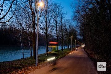 Seit heute sorgt eine adaptive Beleuchtung am Kanal für die richtige Beleuchtung