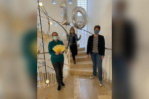 Stellten das Akademieprogramm für 2021 vor (v.l.): Sozial- und Stiftungsdezernentin Cornelia Wilkens, Andrea Evers (Leiterin der FreiwilligenAkademie) und Vera Kalkhoff (Leiterin der FreiwilligenAgentur). (Foto: FreiwilligenAkademie)