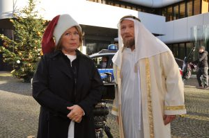 Rita Rassek und Roland Jankowsky am Set. (Foto: LBS West)