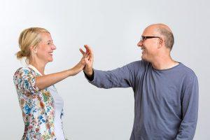 Über den Erfolg von Antenne Münster freuen sich nicht nur Anja Bruckner und Christoph Hausdorf aus der Morning Show. (Foto: Alena Dittrich)