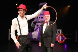 Mit an Bord: Das Comedy-Duo Anton und Franke Viktor. (Foto: GOP)