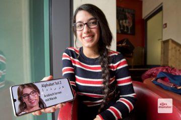 Marah Alasaad möchte mit ihren Videos auch das Interesse an der arabischen Kultur wecken. An Ideen besteht dabei kein Mangel. (Foto: Bührke)