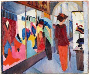 August Macke, Modegeschäft, 1913, LWL-Museum für Kunst und Kultur. (Foto: LWL/ Neander)