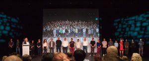 Die Neuen am Theater Münster zum ersten Mal hier auf der Bühne. (Foto: Oliver Berg)
