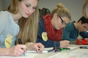 """Der FH-Workshop """"Studienwahl 2017 – ich bin dabei!"""". (Foto: FH Münster)"""