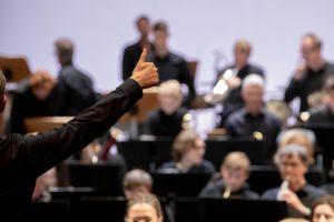 Das Sinfonieorchester Münster, die Westfälische Schule für Musik und die Musikhochschule Münster feiern am Pfingstwochenende ihren gemeinsamen 100. Geburtstag mit Open-Air-Konzerten auf dem Prinzipalmarkt. (Foto: Oliver Berg)