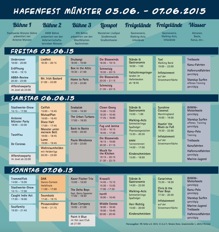 Hafenfest Programm