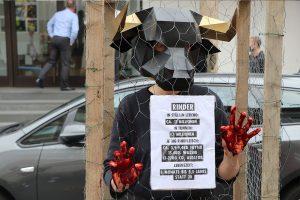 Die Demonstration richtete sich nur gegen Westfleisch, sondern generell gegen die Nutztierhaltung. (Foto: Extinction Rebellion)