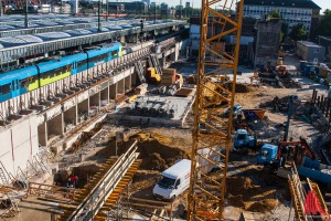 Auf der Großbaustelle am Hauptbahnhof liegt doch keine Bombe. (Foto: sg)