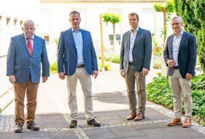 Werden vom renommierten Magazin Focus empfohlen: Prof. Dr. Claus Spieker, Prof. Dr. Joern Steinbeck, Priv.-Doz. Dr. Frank Schiedel und Prof. Dr. Dr. Matthias Hoffmann (von links. Foto: Michael Bührke)