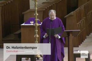 Gläubige können den Gottesdienst auf zahlreichen Portalen verfolgen (screenshot: Bistum Münster)
