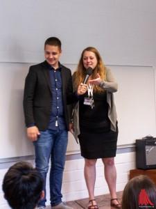 Carina Schmid und Mathias Haas kündigen mit Stolz das 1. Projekt an. (Foto: ar)