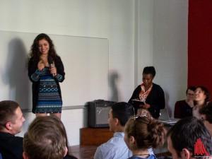 Aya Chebbi und Konda Delphine (re.) mit ihrem Projekt VOW. (Foto: ar)