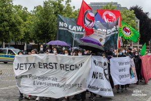Die Demonstrierenden starteten ihren Protest auf dem Domplatz. (Foto: Thomas Hölscher)