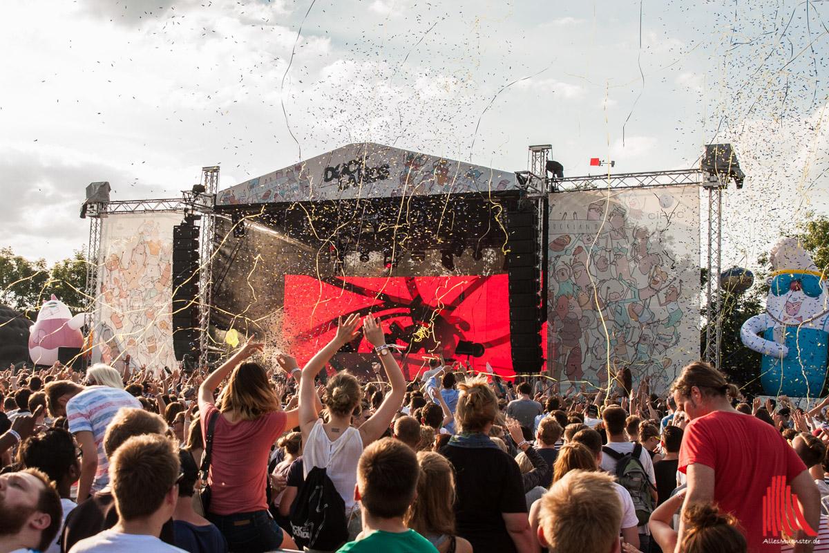 Riesen Stimmung beim 6. Docklands Festival in Münster. (Foto: sg)