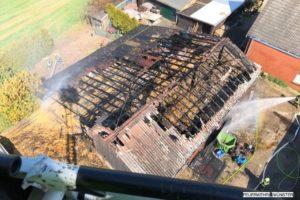 Auf einem Hof in Nienberge hat es gebrannt. (Foto: Feuerwehr Münster)