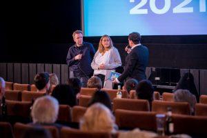(v.l.:) Carsten Happe, Risna Olthuis und Gian-Philip Andreas stellten das Programm des Filmfestival Münster vor. (Foto: Marvin Waschke)