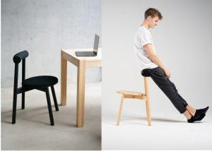 Mit einer zur aktuellen Lage passenden Bachelorarbeit, betreut von Prof. Steffen Schulz, schloss Moritz Walter sein Designstudium ab: Er hatte einen Stuhl fürs Homeoffice entworfen und gebaut. (Fotos: Moritz Walter)