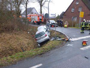 Am Nachmittag ereignete sich ein schwerer Verkehrsunfall in Roxel. (Foto: Pressefoto)