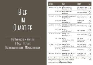 """Der Fahrplan für """"Bier im Quartier"""" (Bild: Promo)"""