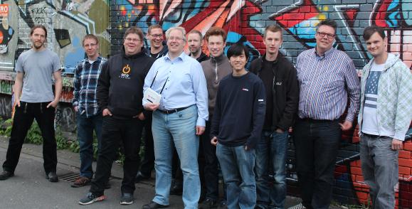 Freifunk Team im Mai 2015 (Foto: Freifunk Münster. CC-BY-SA)
