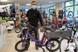 Bernd Voss vom Fahrradgeschäft Velofaktur. (Foto: Michael Bührke)