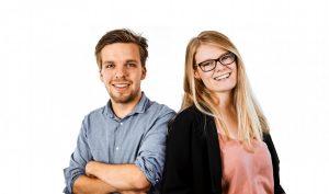 Das Moderatorenduo Gerrit Nissen und Miriam Gerding. (Foto: Antenne Münster)