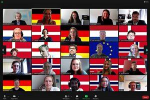 Das Hansa-Berufskolleg und die Stadt Münster standen im virtuellen Austausch mit Partnerschulen in Dänemark, Großbritannien, Norwegen und den Niederlanden. (Foto: Hansa-Berufskolleg / Klaus Rosenau)