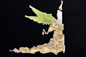 """""""Hiroshima-Engel"""" nennt Laurenz E. Kirchner aus Münster dieses Bild, das Teil der multimedualen Kunstinstallation am Domplatz werden wird. (Foto: privat)"""