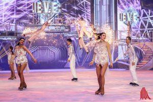 """Rasant, actionreich und hochmodern mit LED-und Pyrotechnik ist die neue Holiday on Ice-Show """"Believe"""". (Foto: je)"""